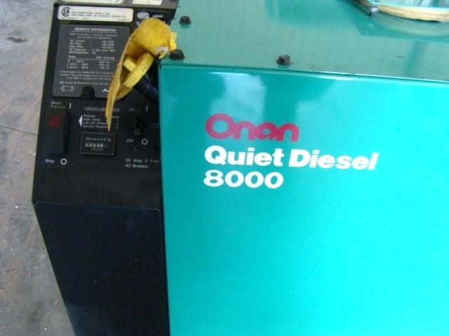 ONAN 8000 QUITE DIESEL GENERATOR RV MOTORHOME - CALL 606-843-9889 Generators