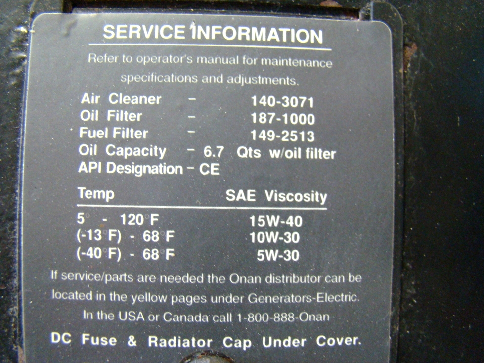 10000 ONAN QUITE DIESEL GENERATOR USED - CALL FOR AVAILABILITY Generators