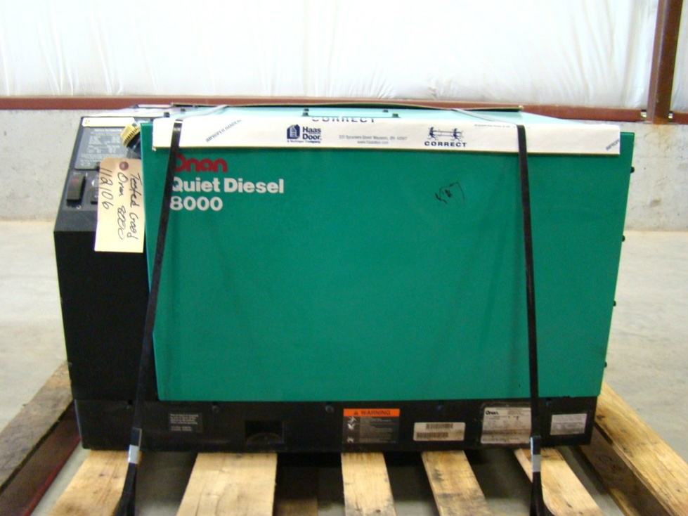 ONAN 8000 QUITE DIESEL GENERATOR RV MOTORHOME RV GENERATORS  Generators
