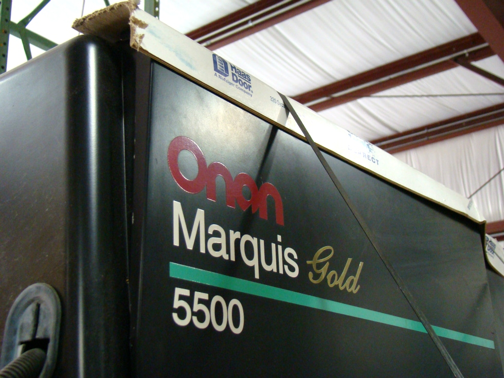 USED ONAN GAS GENERATOR 5500 MARQUIS GOLD  Generators