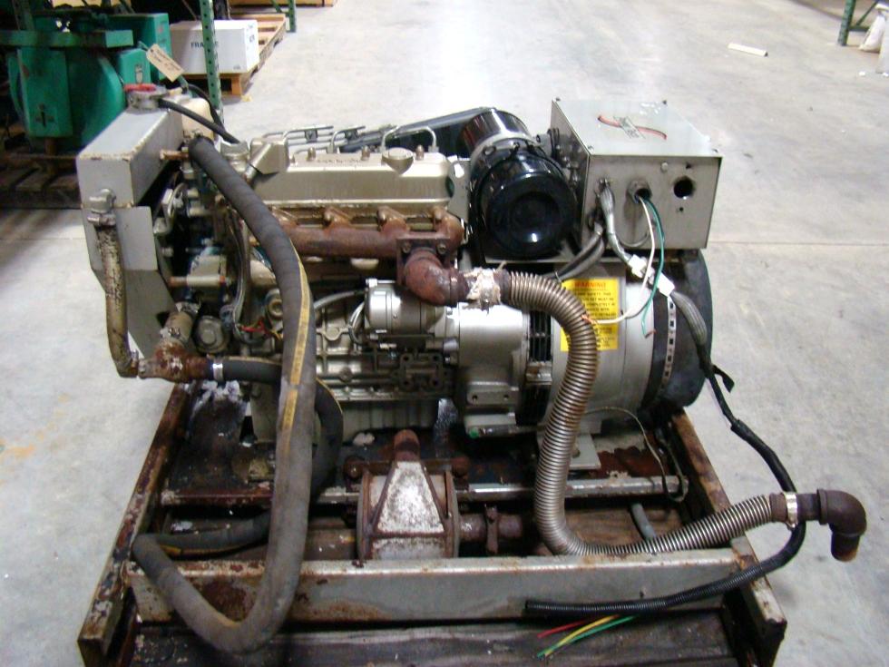 USED POWER TECH 10 KW DIESEL GENERATOR FOR SALE MODEL PTS MH 10FTRR  Generators