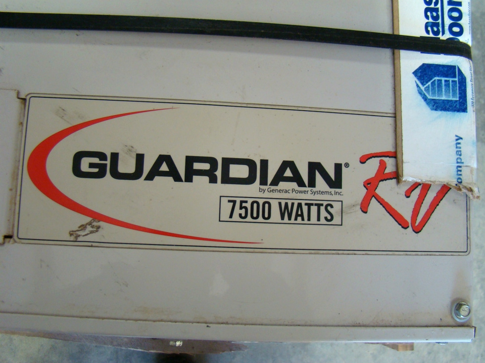 GENERAC GUARDIAN 7500 DIESEL GENERATOR FOR SALE RV / MOTORHOME Generators