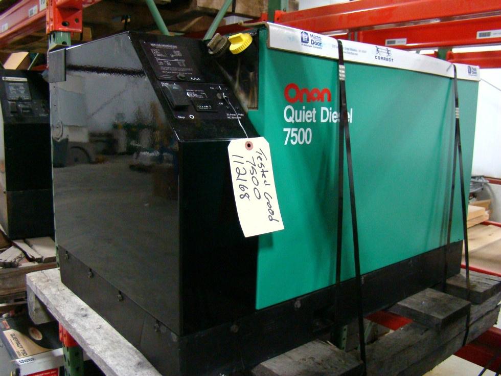 USED RV GENERATOR - ONAN 7.5 ( 7500 QUIET DIESEL ) FOR SALE BY VISONE RV 606-843-9889 Generators