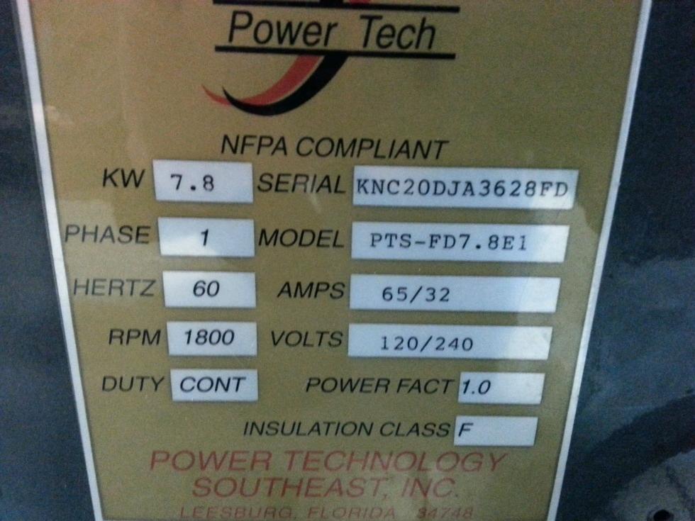 POWER TECH 7.8 KW DIESEL GENERATOR FOR SALE BUS / MOTORHOME Generators