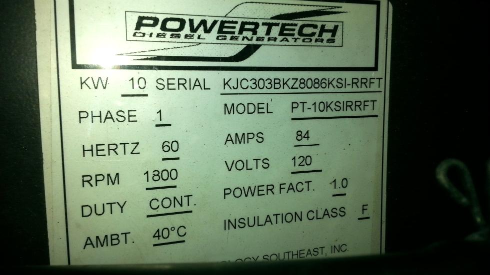 POWERTECH DIESEL GENERATOR 10KW MODEL PT-10KSIRRFT Generators