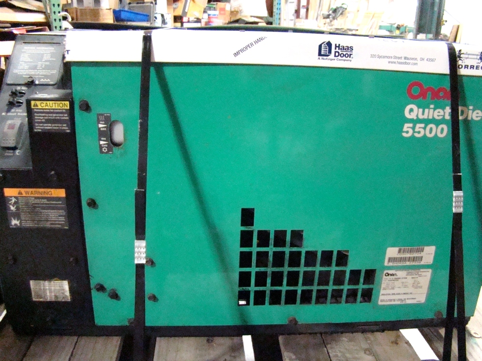 USED ONAN QUIET DIESEL 5500 GENERATOR FOR SALE 5.5 KW Generators