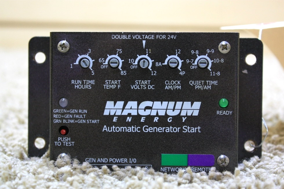 USED RV PARTS MAGNUM ENERGY AUTOMATIC GENERATOR START FOR SALE Generators