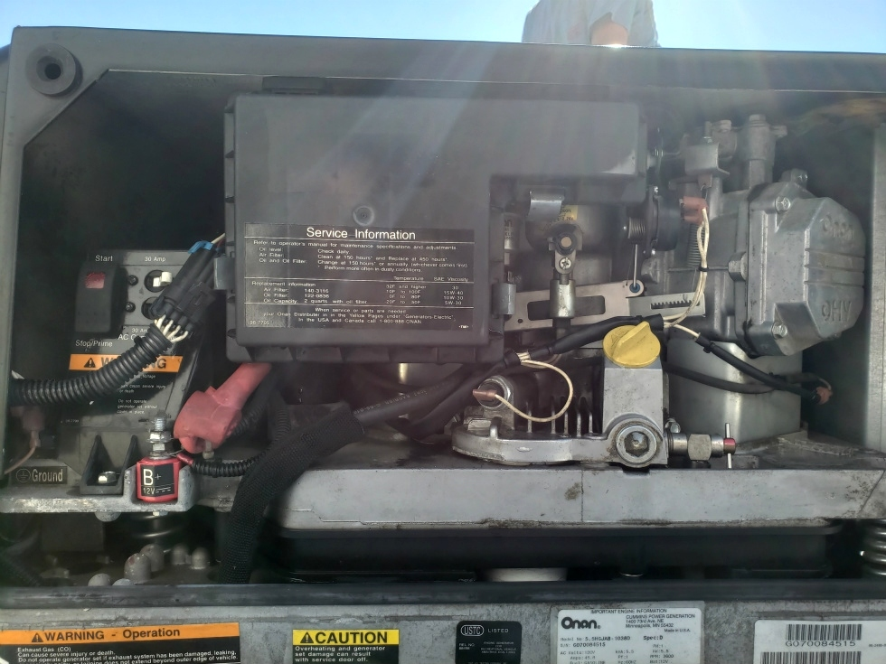 USED ONAN MARQUIS GOLD 5500 GENERATOR MODEL: 5.5HGJAB-1038D RV GENERATORS FOR SALE Generators