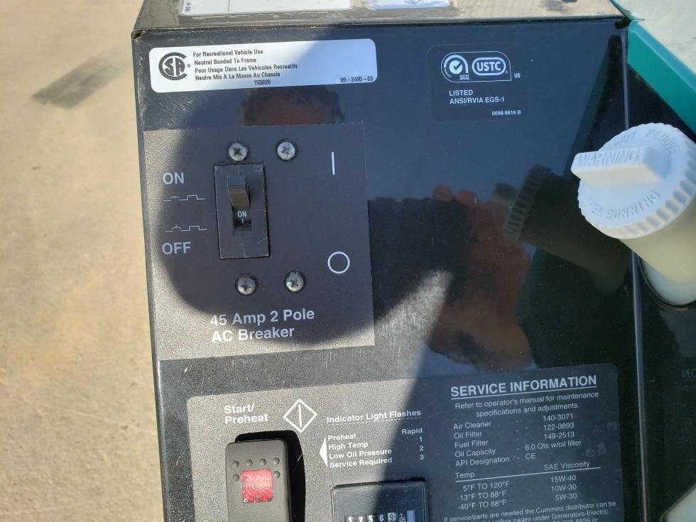 Generators 10HDKCA-11608F USED CUMMINS ONAN RV QD 10000