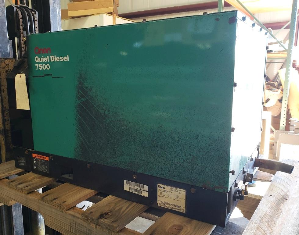 USED RV ONAN QUIET DIESEL 7500 GENERATOR MOTORHOME PARTS FOR SALE Generators