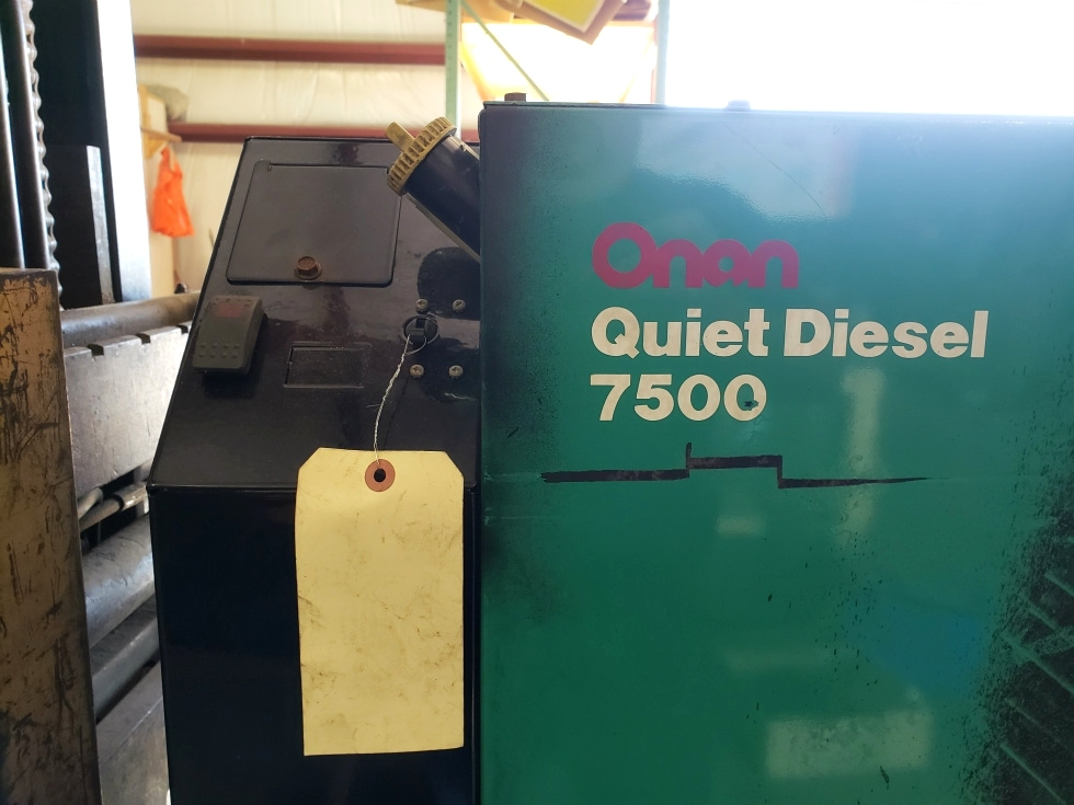 USED RV ONAN QUIET DIESEL 7500 GENERATOR MOTORHOME PARTS FOR SALE Generators