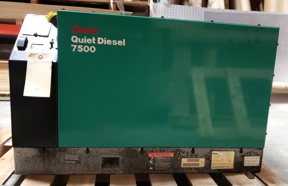 USED MOTORHOME ONAN 7500 QUIET DIESEL GENERATOR RV PARTS FOR SALE Generators