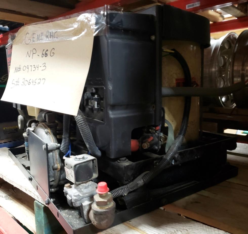GENERAC NP-66G USED GENERATOR MODEL: 09734-3 RV/MOTORHOME PARTS FOR SALE Generators