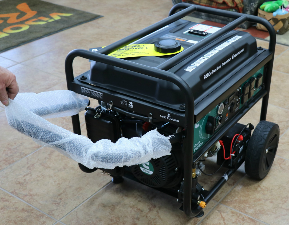 CUMMINS ONAN P9500df DUAL FUEL (GAS/LPG) PORTABLE GENERATOR FOR SALE Generators