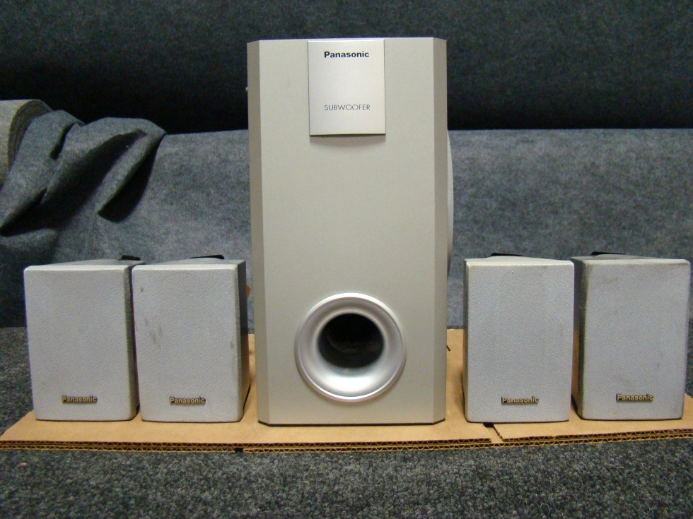 USED RV/MOTORHOME PANASONIC 4 PC SPEAKERS AND SUB (SILVER) FOR SALE RV Electronics
