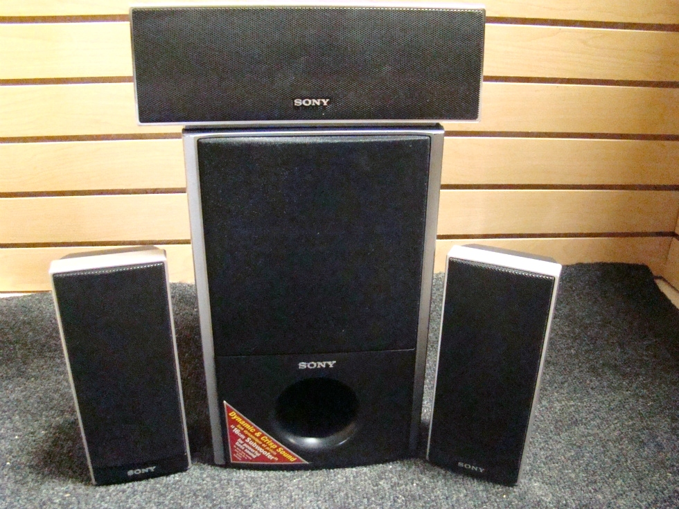 USED RV/MOTORHOME 4 PC SONY SURROUND SOUND SPEAKER SET RV Electronics