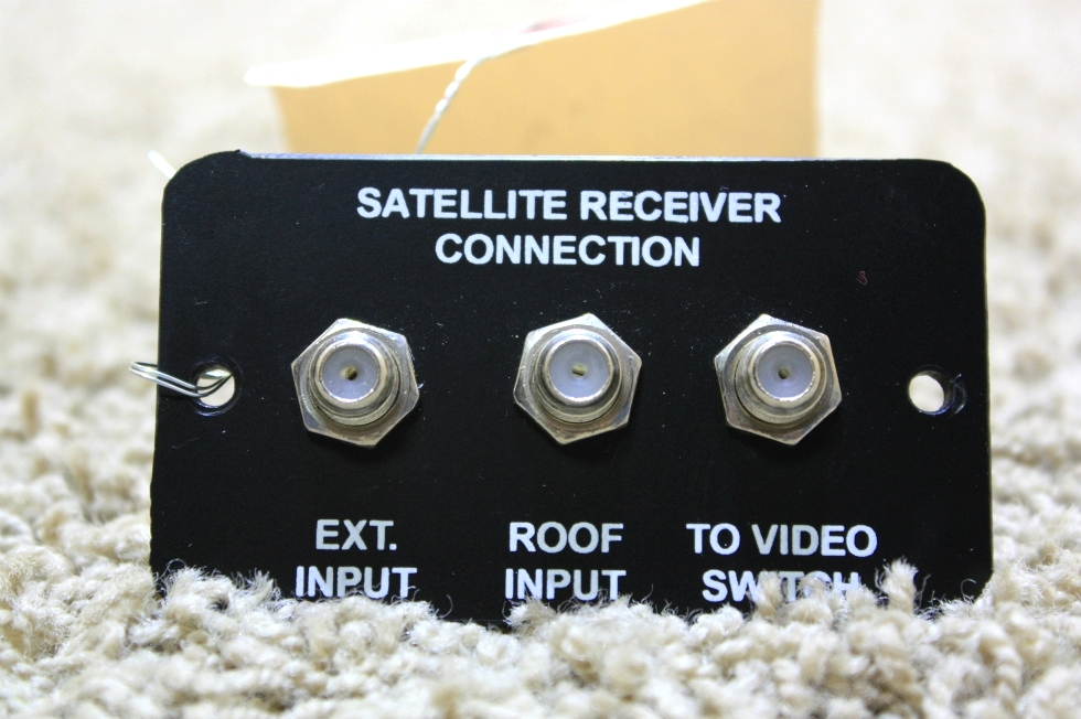 USED SATELLITE RECEIVER CONNECTION PANEL FOR SALE RV Electronics