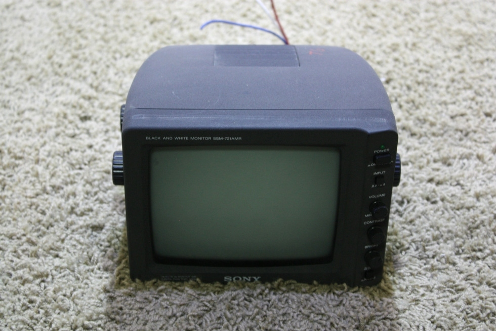 USED SONY BLACK AND WHITE SSM-721AMR MONITOR MOTORHOME ELECTRONICS FOR SALE RV Electronics