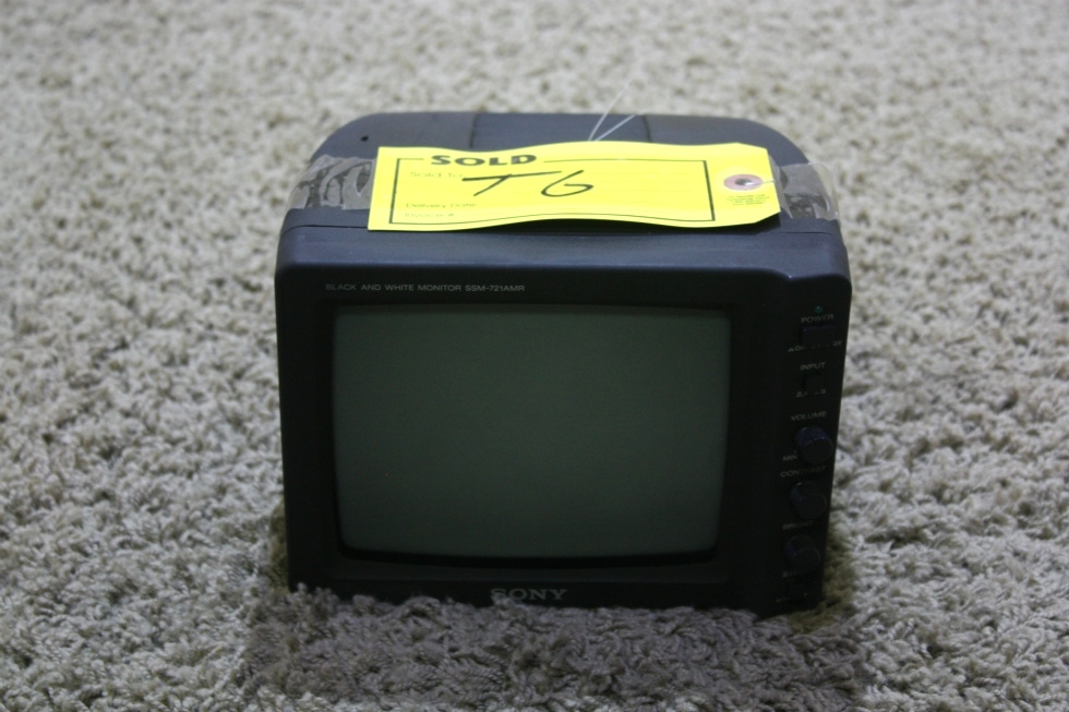 USED MOTORHOME BLACK & WHITE SSM-721AMR SONY MONITOR FOR SALE RV Electronics