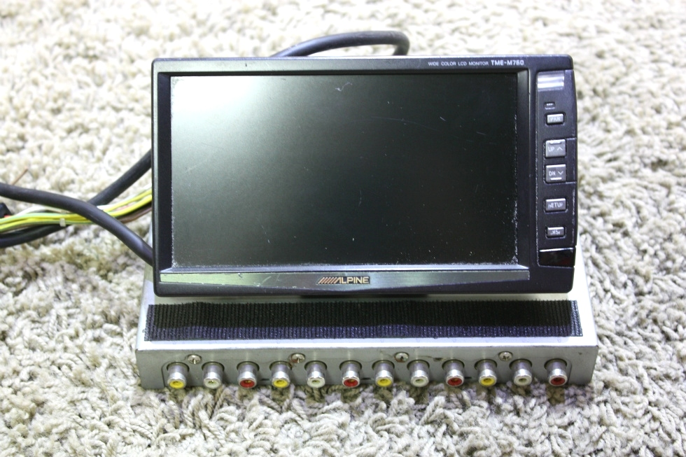 USED ALPINE 6.5 INCH WIDE COLOR LCD MONITOR TME-M760 RV PARTS FOR SALE RV Electronics