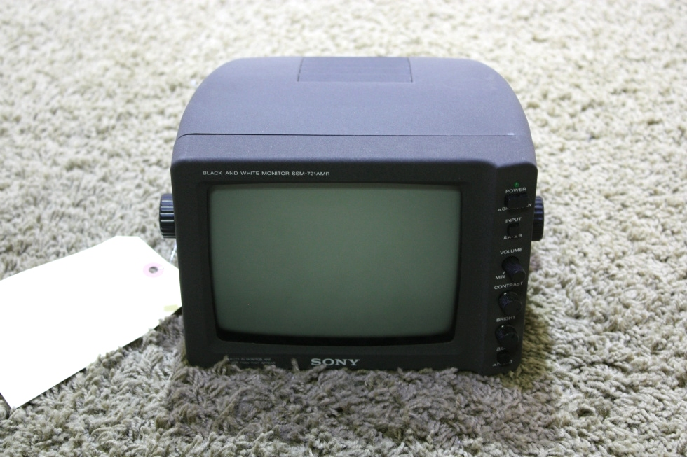 USED RV SSM-721AMR SONY BLACK & WHITE MONITOR FOR SALE RV Electronics