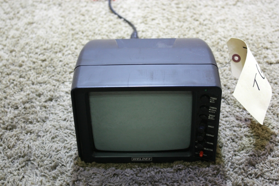 USED RV WELDEX B/W 3 VIEW MONITOR WITH AUDIO WDRV-3407M FOR SALE RV Electronics