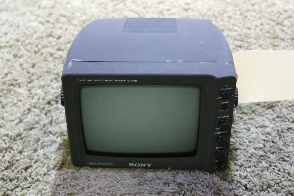 USED RV SSM-721AMR SONY BLACK/WHITE MONITOR FOR SALE RV Electronics