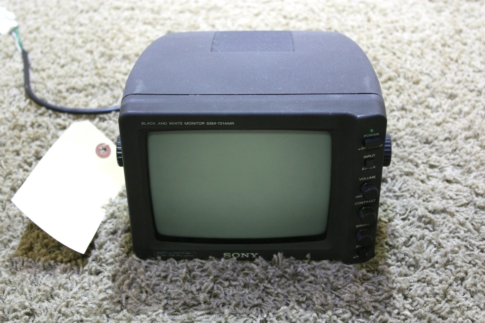 USED MOTORHOME SSM-721AMR SONY BLACK AND WHITE MONITOR FOR SALE RV Electronics