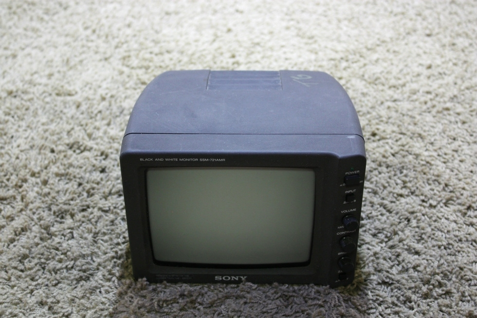 USED RV SONY BLACK AND WHITE MONITOR SSM-721AMR FOR SALE RV Electronics