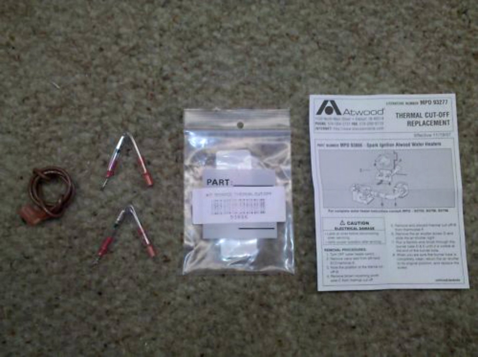 NEW RV/MOTORHOME WATER HEATER PARTS - THERMAL CUT OFF KIT (2 PACK) MODEL:  RV Appliances