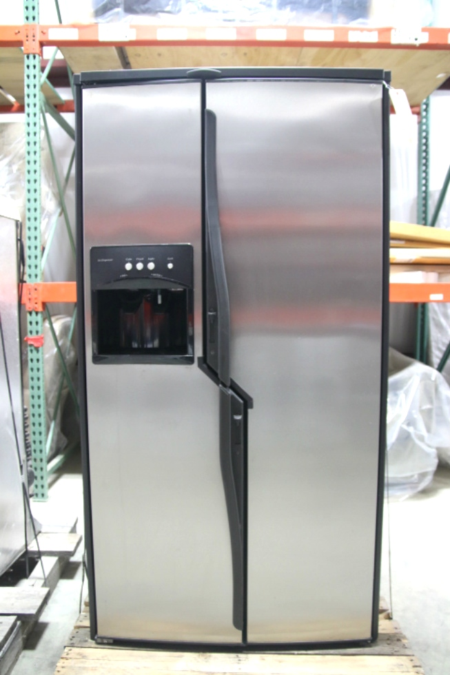USED RV/MOTORHOME NORCOLD STAINLESS STEEL FRIDGE | MODEL: NDA1402 SN: 94800011 RV Appliances