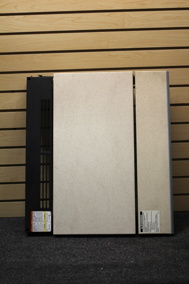 USED RV/MOTORHOME COOKTOP COVER *BEIGE & BLUE* FROM 2003 HOLIDAY RAMBLER NEPTUNE RV Appliances