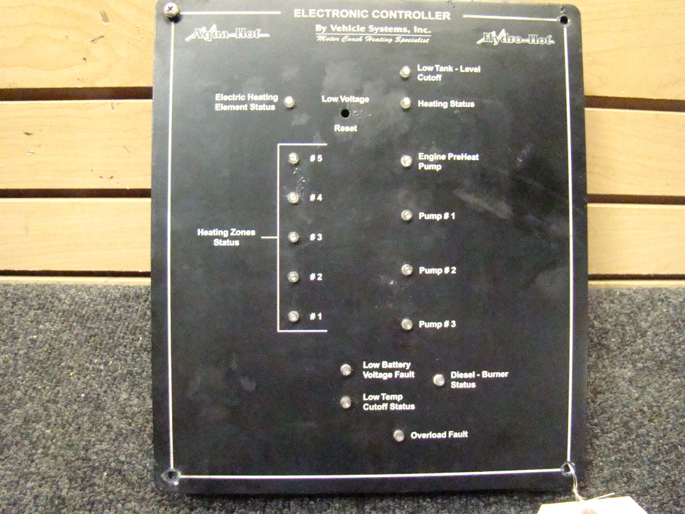 USED RV/MOTORHOME AQUA HOT ELECTRONIC CONTROL PANEL BY. VEHICLE SYSTEMS FOR SALE RV Appliances