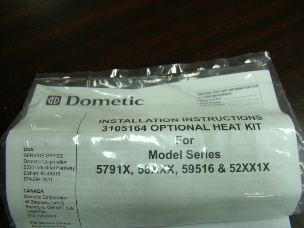 NEW RV/MOTORHOME DOMETIC COMPLETE HEATER KIT FOR SALE P/N 3105164 RV Appliances
