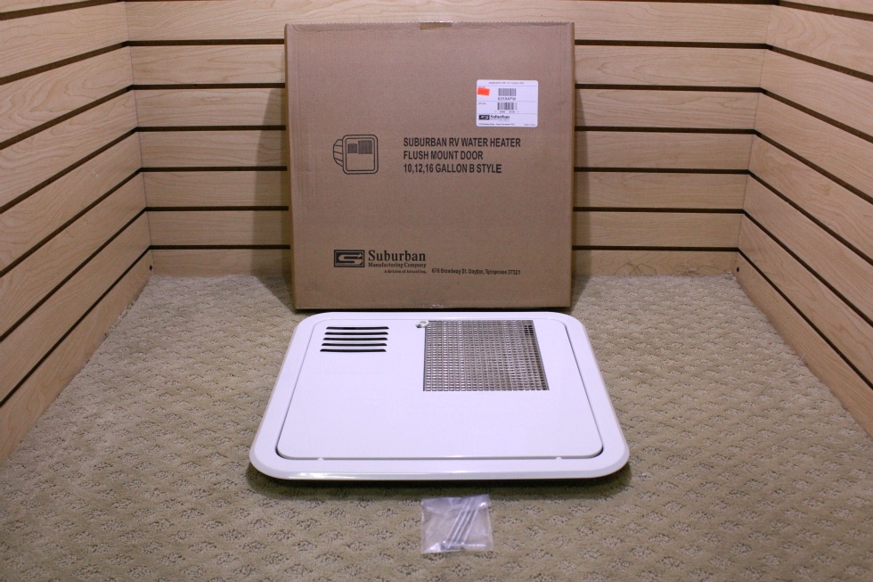 SUBURBAN REPLACEMENT WATER HEATER FLUSH MOUNT DOOR 10, 12, & 16 GALLON B STYLE  RV Appliances