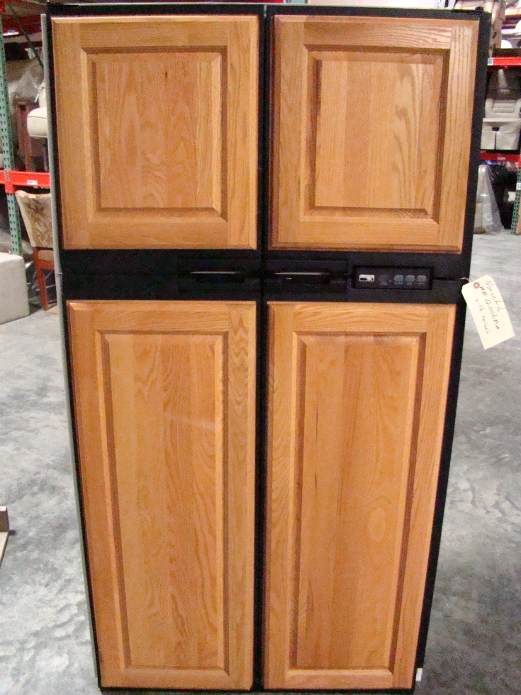 USED RV MOTORHOME REFRIGERATOR FOR SALE | NORCOLD 1200LRIM (WOOD PANEL) RV Appliances