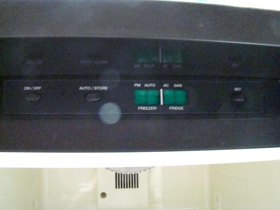 USED RV MOTORHOME DOMETIC REFRIGERATOR | NDA1402 STAINLESS LOOK PANELS RV Appliances