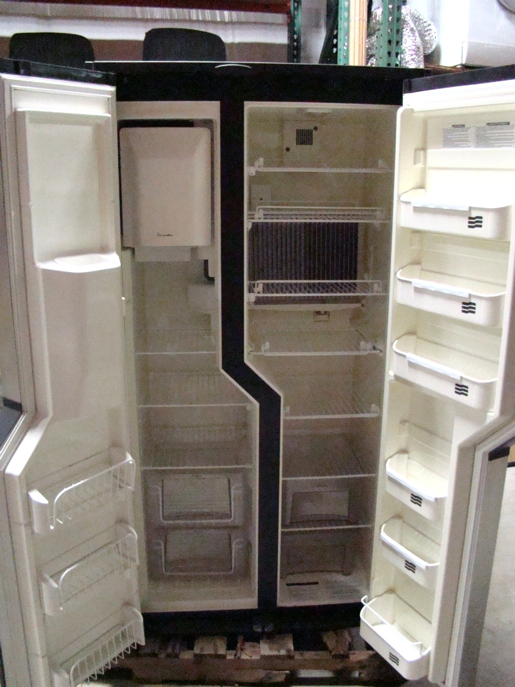 USED RV MOTORHOME DOMETIC REFRIGERATOR | NDA1402 STAINLESS LOOK PANELS RV Appliances