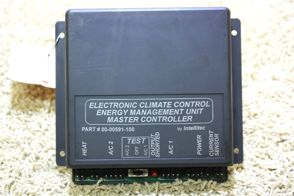 USED INTELLITEC ELECTRONIC CLIMATE CONTROL ENERGY MANAGEMENT UNIT 00-0591-100 FOR SALE RV Appliances