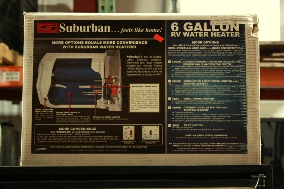 RV SUBURBAN SW6DE WATER HEATER MOTORHOME APPLIANCES FOR SALE RV Appliances