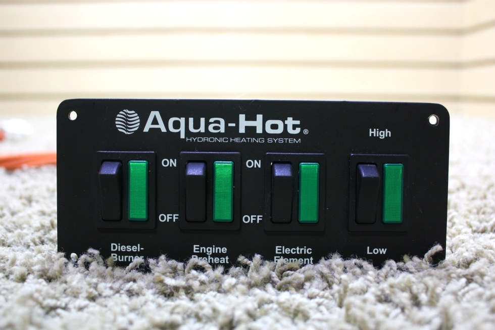 USED RV AQUA-HOT HYDRONIC HEATING SYSTEM SWITCH PANEL WITH WIRING HARNESS FOR SALE RV Appliances