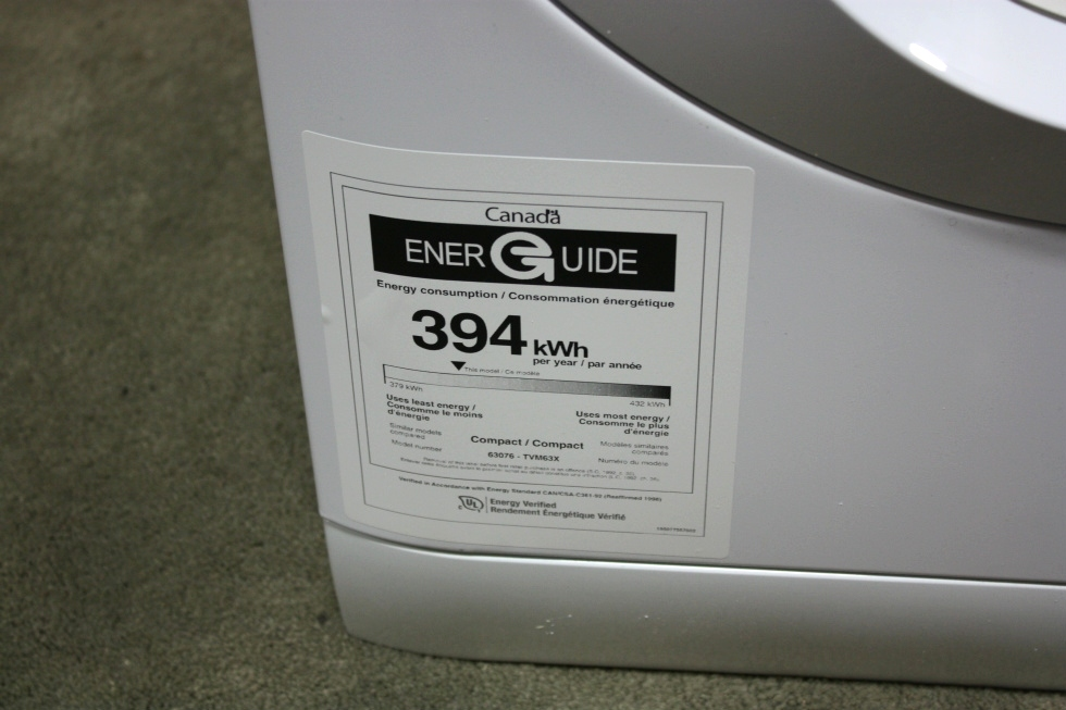 MOTORHOME STACKABLE DRYER TVM63XNA RV APPLIANCE FOR SALE RV Appliances