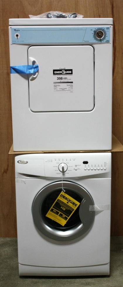whirlpool stacked washer dryer. NEW RV WHIRLPOOL STACKABLE WASHER AND DRYER SET MOTORHOME APPLIANCE FOR SALE Appliances Whirlpool Stacked Washer Dryer E