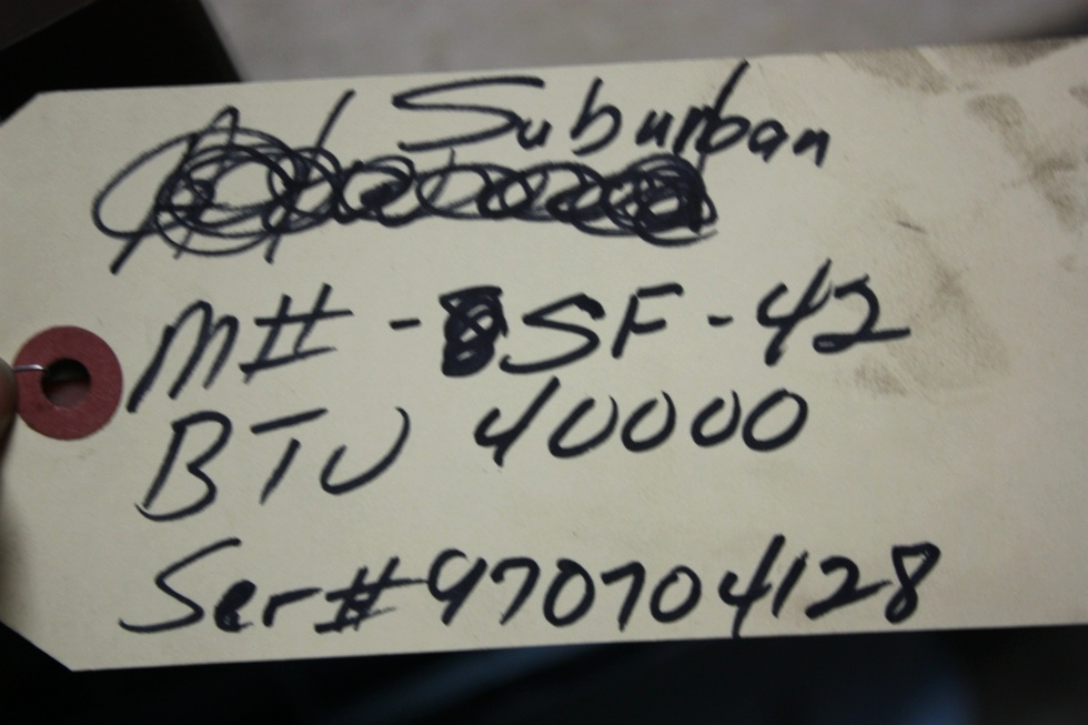 USED MOTORHOME 40,000 BTU FURNACE SUBURBAN SF-42 RV APPLIANCE FOR SALE RV Appliances