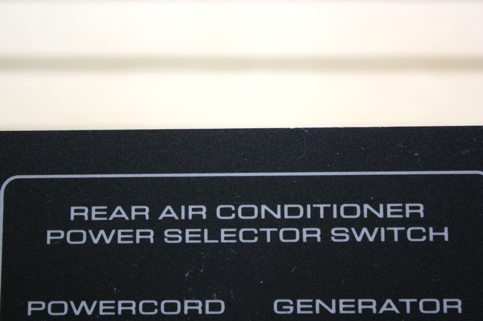 USED RV REAR AIR CONDITIONER POWER SELECTOR SWITCH FOR SALE RV Appliances