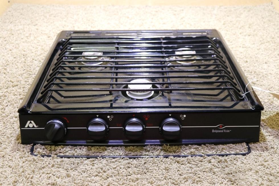 USED C-V32BPN ATWOOD WEDGEWOOD VISION 3 BURNER COOK TOP MOTORHOME APPLIANCES FOR SALE RV Appliances