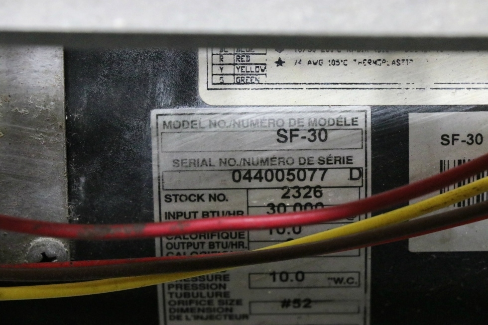SUBURBAN USED SF-30 MOTORHOME FURNACE RV PARTS FOR SALE RV Appliances
