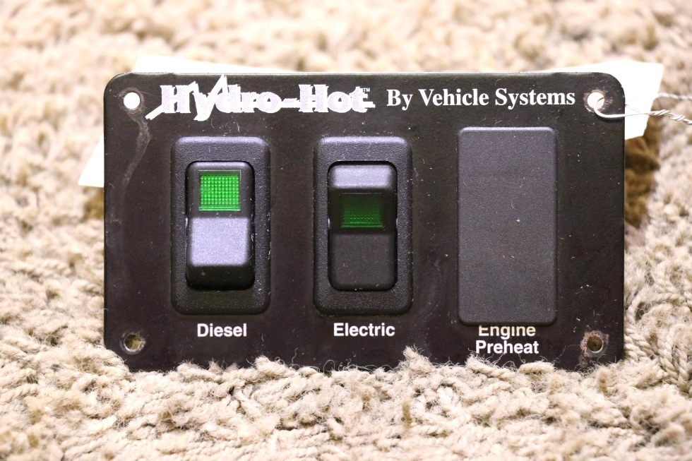 USED RV HYDRO-HOT BY VEHICLE SYSTEMS SWITCH PANEL MOTORHOME PARTS FOR SALE RV Appliances