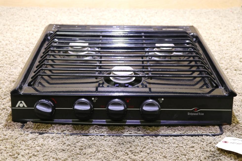 USED MOTORHOME C-V32BPN ATWOOD WEDGEWOOD VISION 3 BURNER COOK TOP RV APPLIANCES FOR SALE RV Appliances