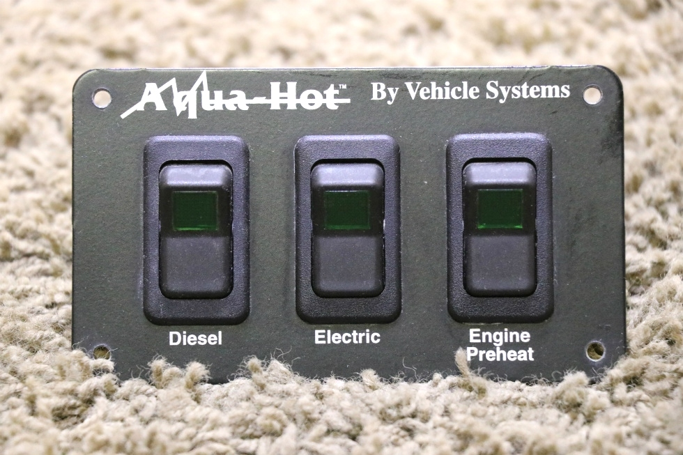 USED RV AQUA-HOT BY VEHICLE SYSTEMS 3 SWITCH PANEL MOTORHOME PARTS FOR SALE RV Appliances